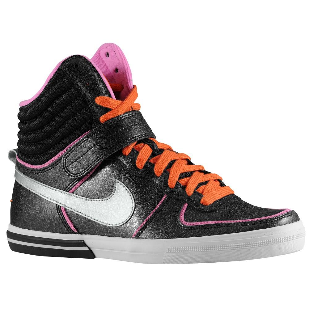 Orange Nike High Top Sock Shoes