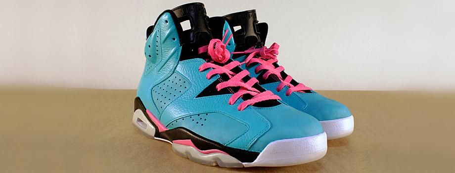 Air Jordan 6 South Beach Custom Sneakers Addict