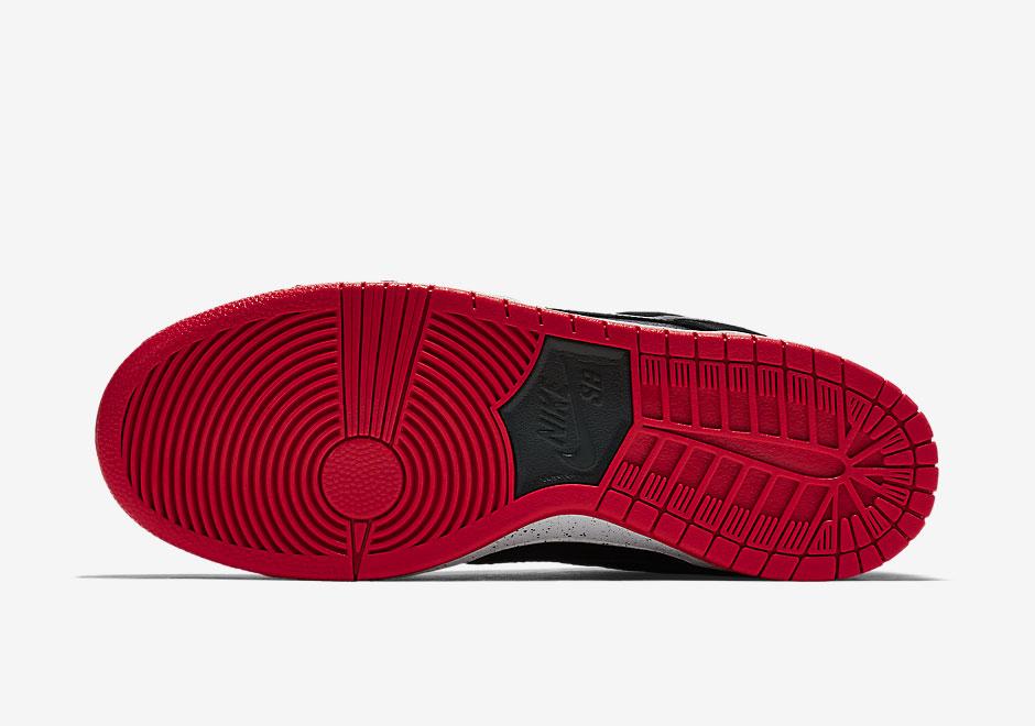 304292-050 Nike SB Dunk Low Black:Wolf Grey-University Red-Black