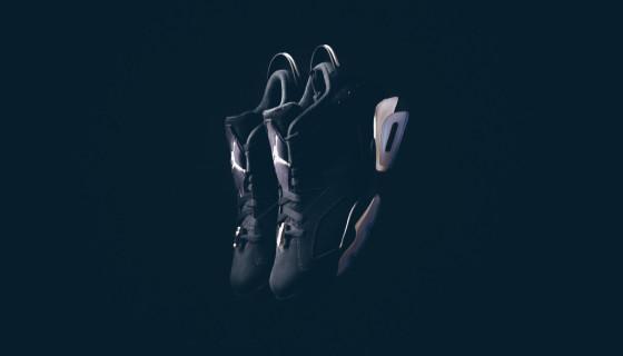 Air Jordan 6 Retro Low Black Metallic Silver