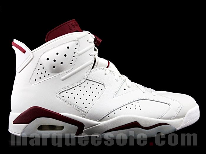 384664-116 Air jordan 6 Marroon Retro 2015 WHITE:WHITE-MAROON