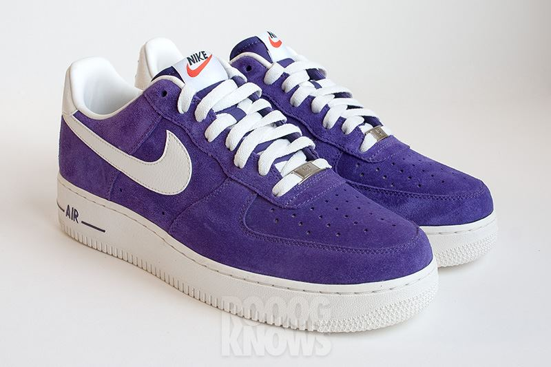 Nike Air Force 1 Suede 2013 Red Et Purple Sneakers Addict