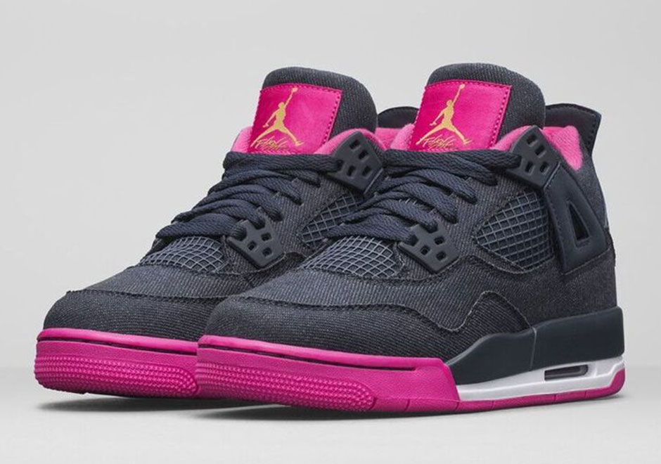 Air Jordan 4 Denim Obsidian Pink