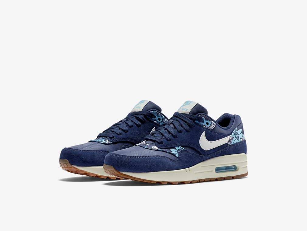 528898-401 Nike Air Max 1 Print Aloha' Navy Blue - Disponible