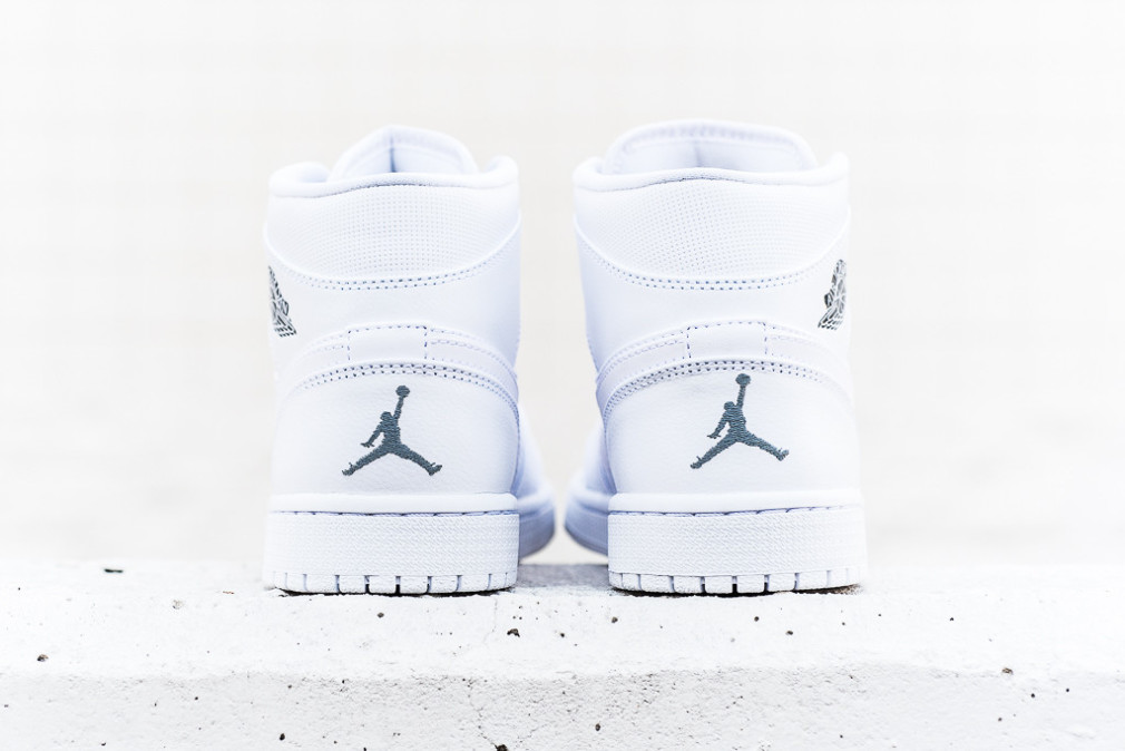 Air Jordan 1 Mid - White/Cool Grey-White