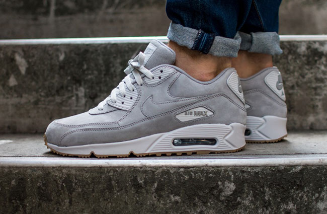 "Nike Air Max 90 Winter Premium ""Leather Pack"" - Medium Grey"