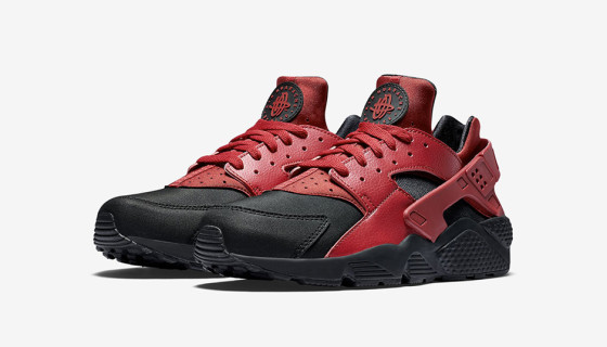 Nike Air Huarache Run Premium Leather Gym Red