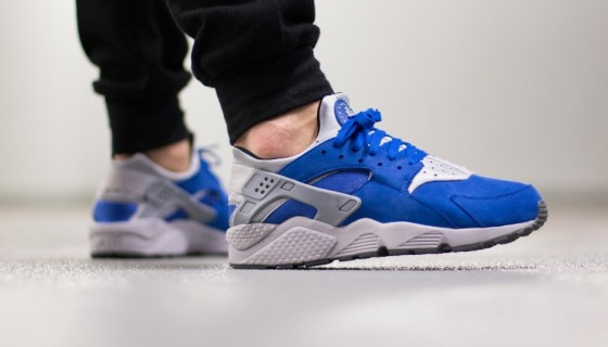 "Nike Air Huarache Run PRM ""Royal Blue/Wolf Grey"""