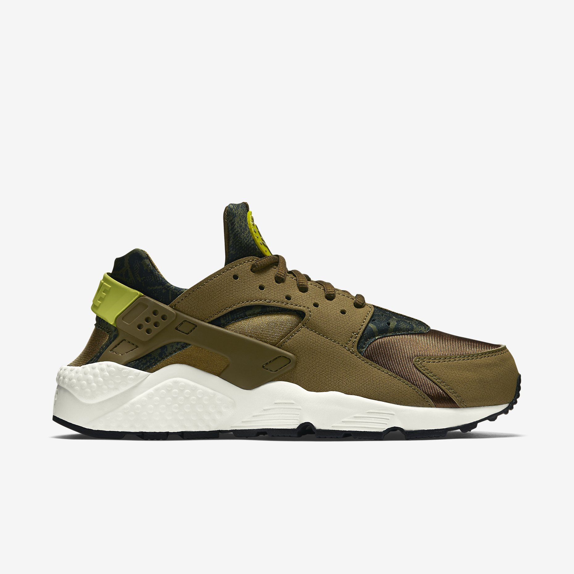 mens nike air huarache gold green ae6126643