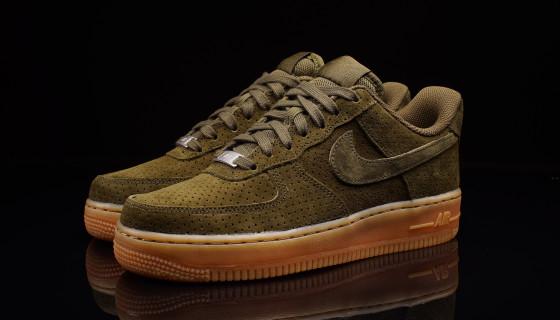 Nike Air Force 1 Suede Dark Loden Gum Wmns
