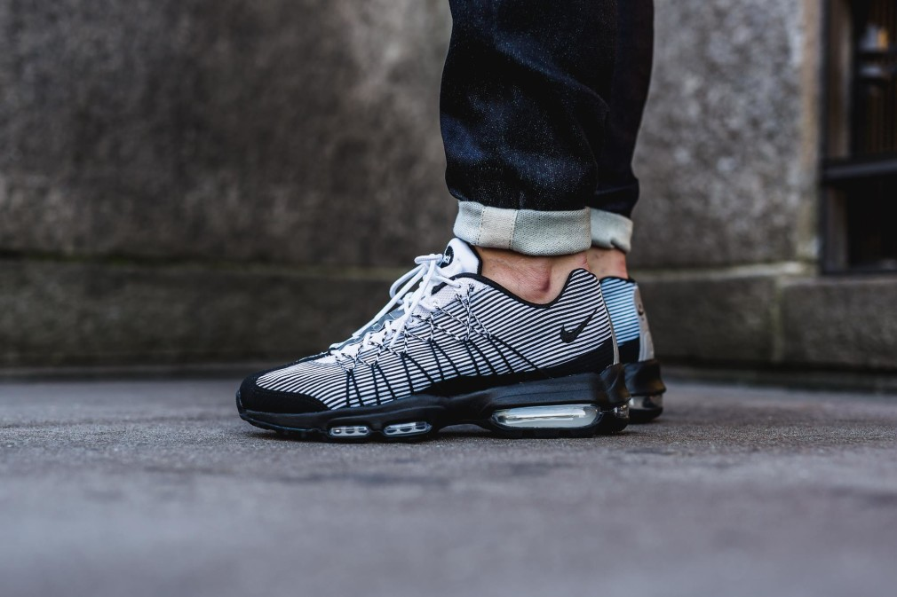 buy popular f66ce 8b052 ... Black White Stealth Wolf Grey (1) Nike Air Max 95 Ultra Jacquard  BlackWhite ...