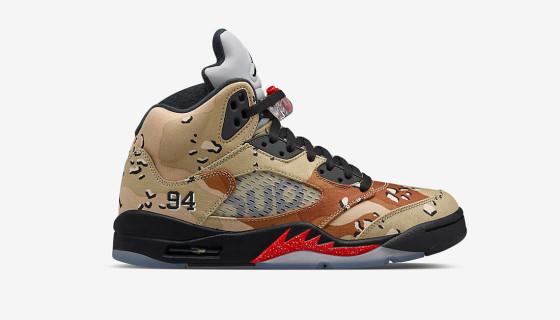 """Supreme x Air Jordan 5 """"Desert Camo"""" – Sortie NikeLAB"""