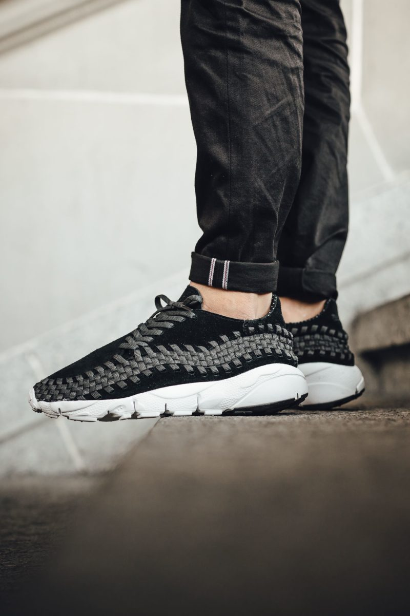 875797-001 nike air footscape woven nm black anthracite