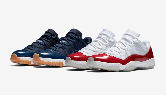 Air Jordan 11 Low University Red and Navy
