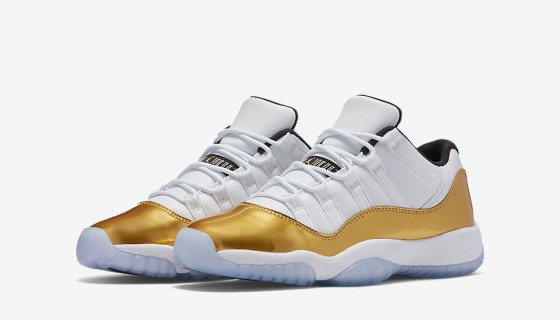 Air Jordan 11 Low Metallic Gold
