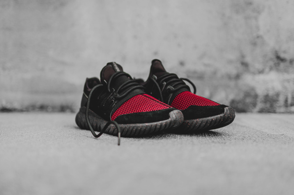Adidas Tubular Radial Red And Black