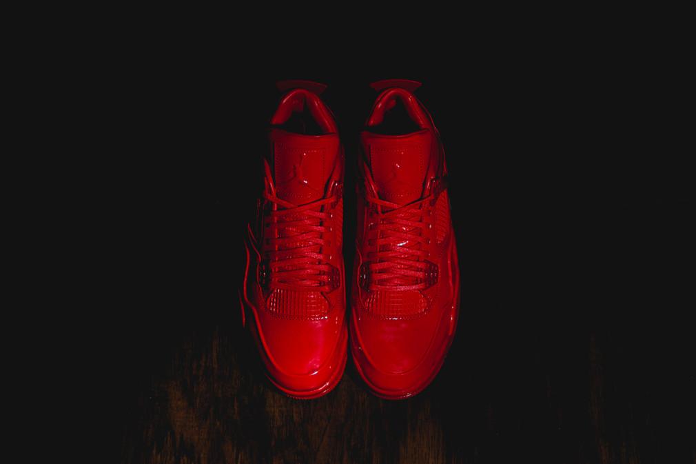 Air Jordan 11Lab4 University Red Patent