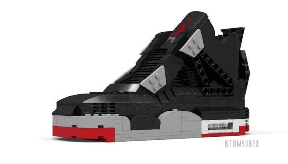 Tom Yoo réimagine la Air Jordan 4 'Bred' avec des pièces de LEGO