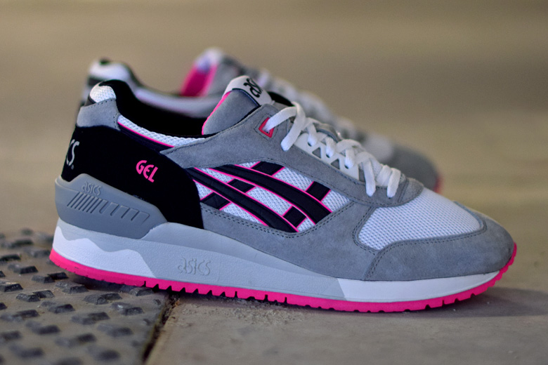 Asics Gel Respector White Black Pink Sneakers Addict