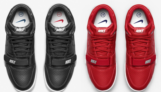 Fragment Design x NikeCourt Air Trainer 1 Black and Gym Red