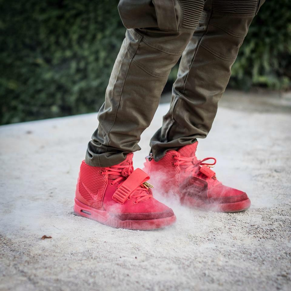 Gyrres Carrioll Bout - Nike Air Yeezy II October Red