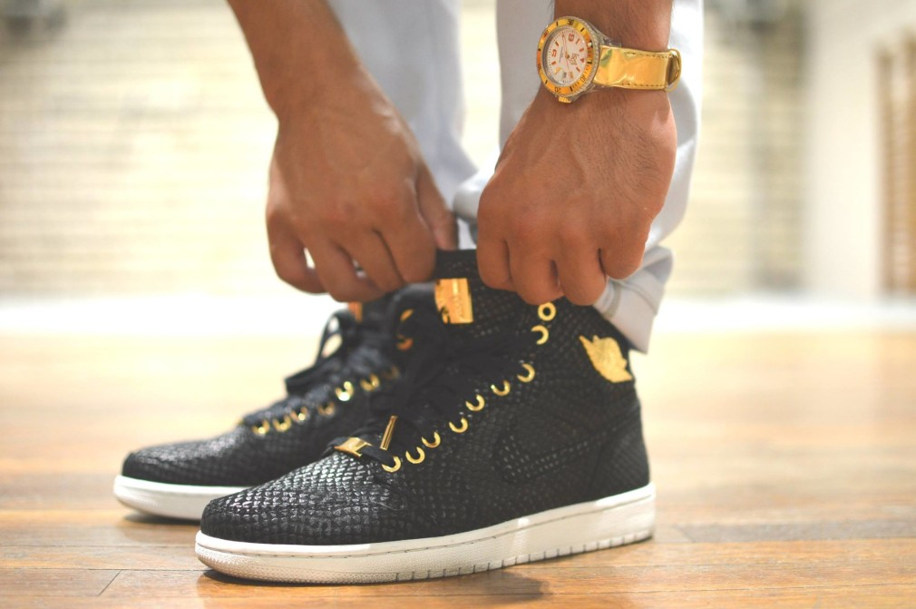 Hainejoy Loufock Xception-Infamous - Air Jordan 1 Pinnacle Black:Gold