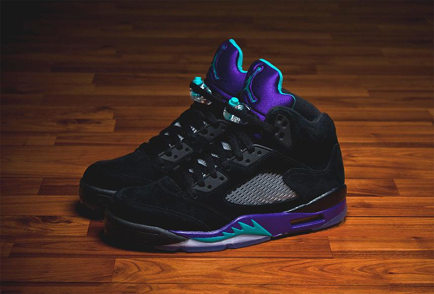 Air Jordan Retro 5 Black Grape New Pictures SNEAKERS