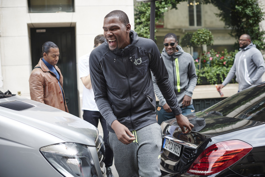 KEVIN DURANT EUROPE MULTI-COUNTRY Tour DAY 4, PARIS, SEPTEMBER 7