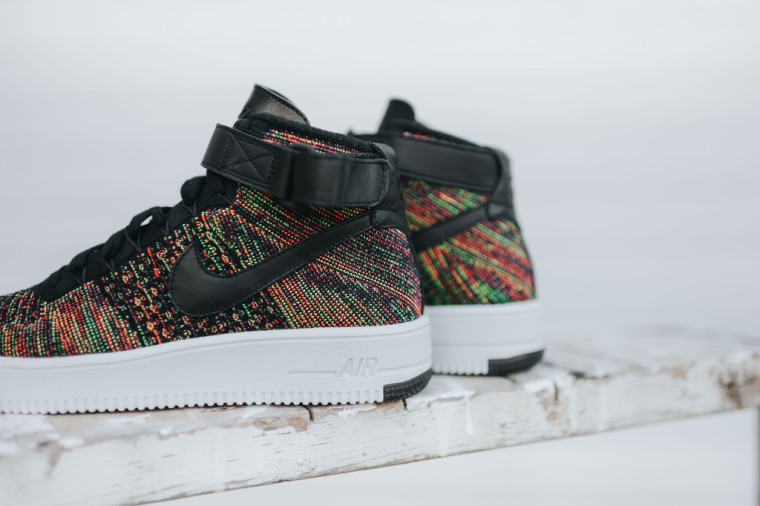 Nike Air Force 1 Mid Flyknit Multicolor