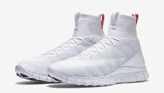 Nike Free Mercurial Superfly Triple White