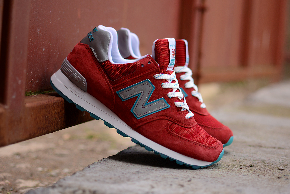 New Balance 574 Cpa Quot Made In Usa Quot Red Wine Turquoise