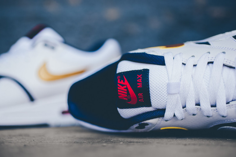 Nike Air Max 1 Essential 'Olympic' White:Metallic Gold:Navy 537383-127