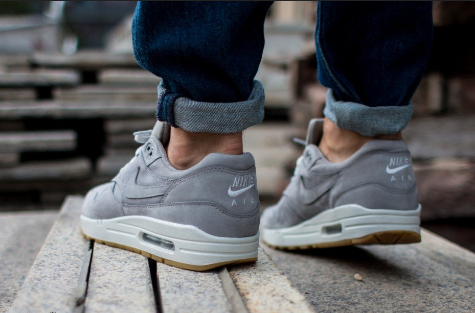 Nike Air Max 90 Premium Medium Grey White Shoes