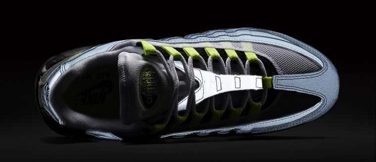 Nike Air Max 95 '3M Neon' Black:Volt-Medium Ash-Dark Pewter 759986-070