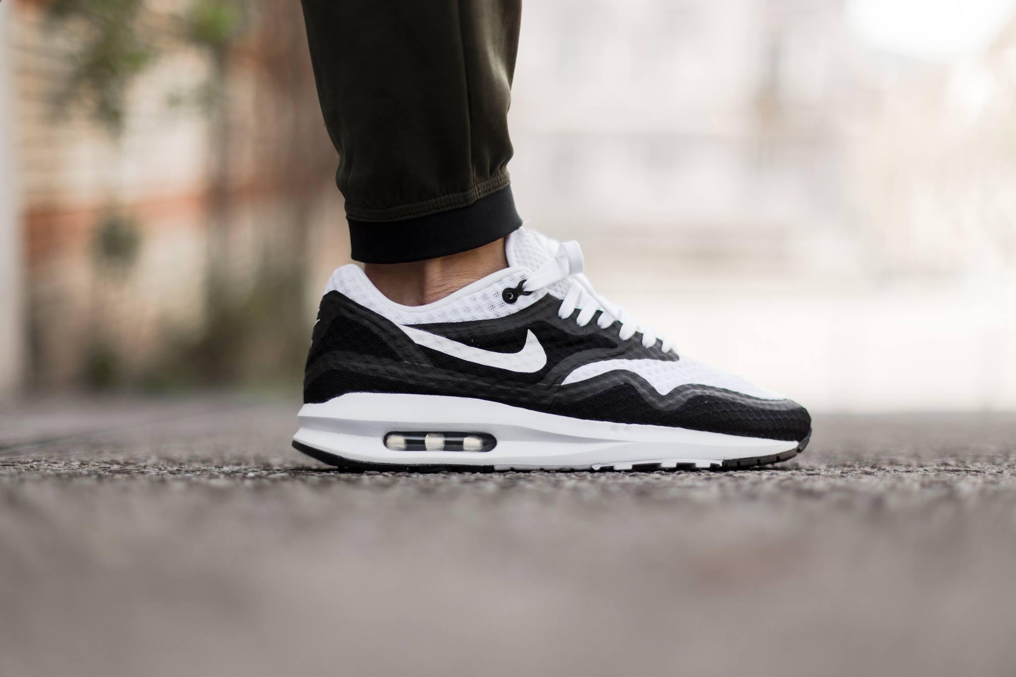 Nike Air Max Lunar1 Breeze Black White Sneakers Addict