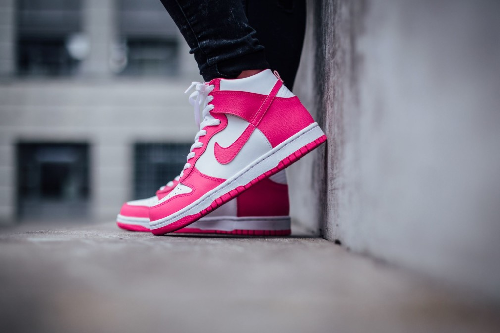 Nike Dunk High White:Pink Pow 308319-127