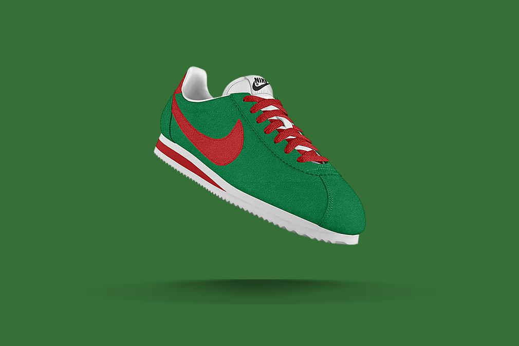 NikeiD-Cortez-Green