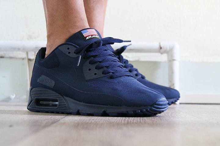 finest selection 453d1 c8dea ... kanye west nike air max 90 independence day navy ...