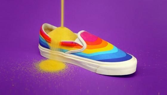"Slam Jam x Vans 25th Collaboration – ""Rainbow Marshmallow"" Collection"