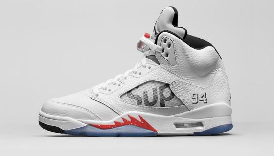 """Supreme x Air Jordan 5 """"White"""""""