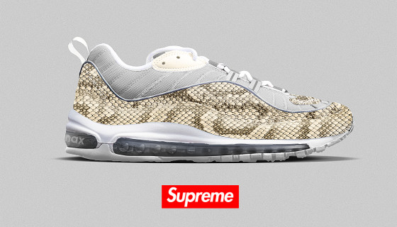 Supreme x Nike Air Max 98 Snakeskin