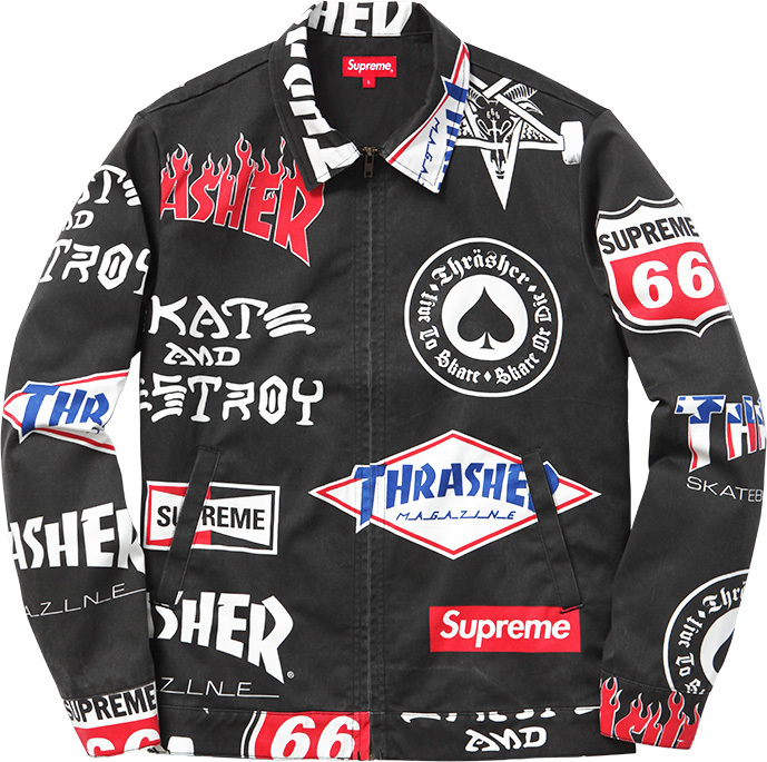 Supreme x Trasher Collection 2015