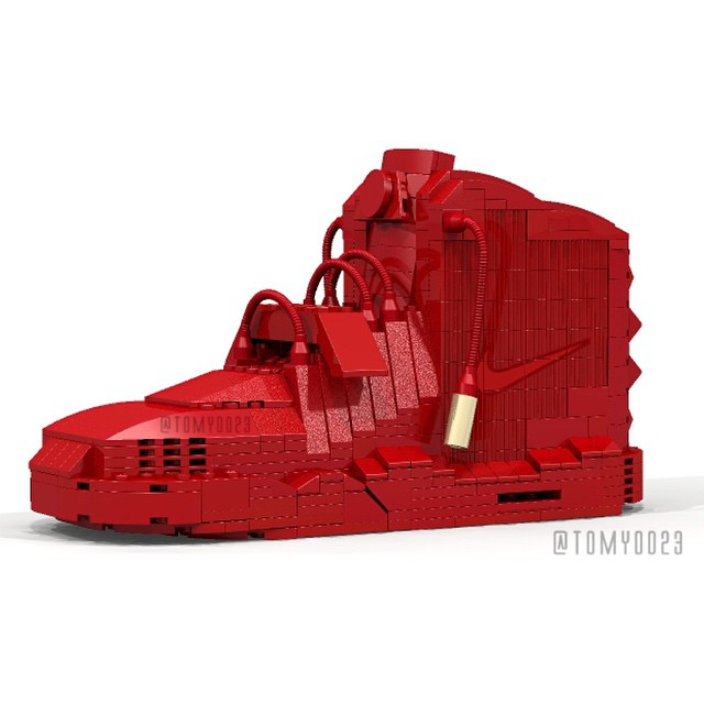 Tom Yoo Lego Nike Air Yeezy 2 Red October
