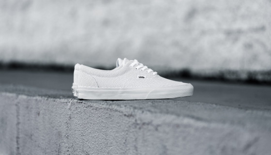 "Vans Era Perforated Leather ""Triple White"""