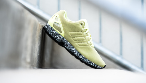 "Adidas Originals ""Prism Sole"" ZX Flux – Frost Yellow"