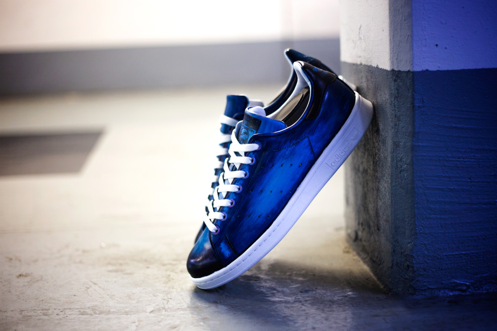 Florence-Monteil-Patine-cuir-adidas-stan-smith-custom-blue-02
