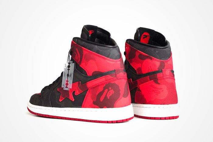 Air Jordan 1 Bred x Bape Custom