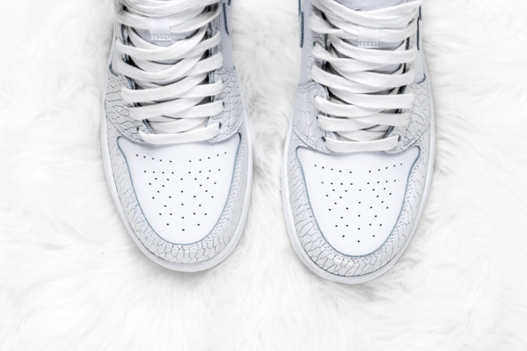Air Jordan 1 Heiress White Pure Platinum