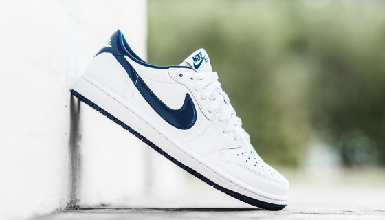 Air Jordan 1 Retro Low OG – White & Navy