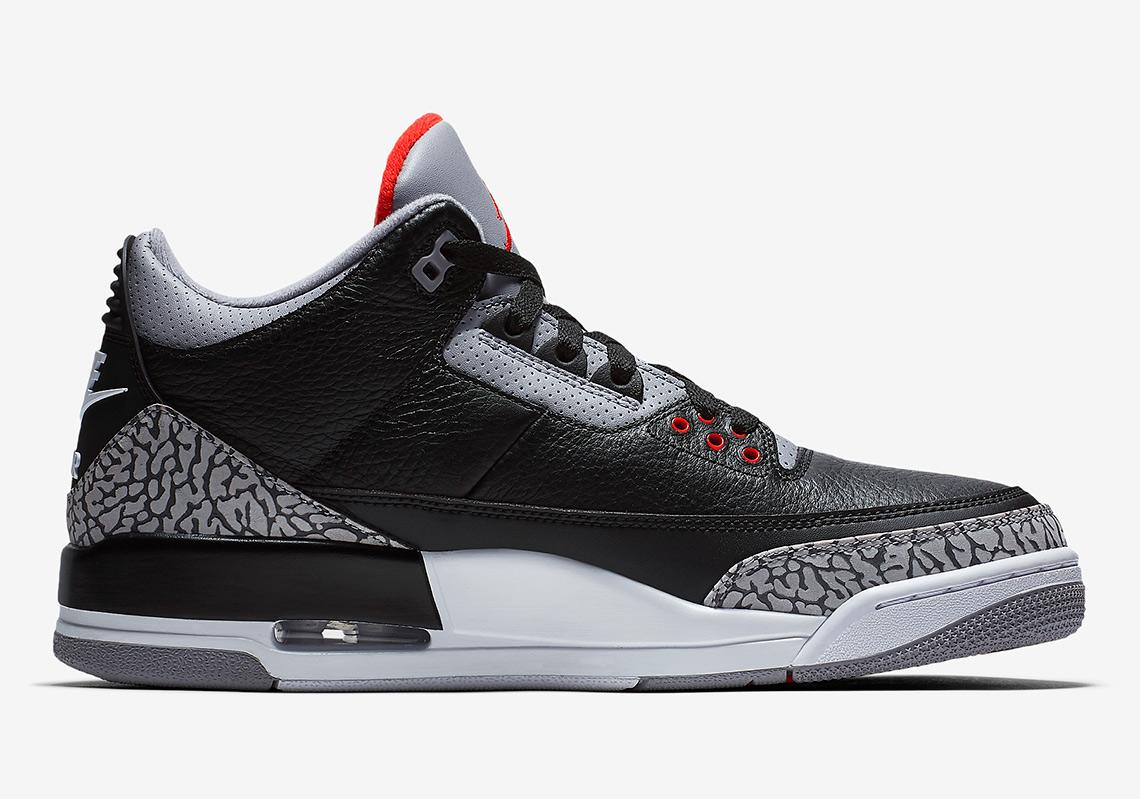 air jordan 3 og retro black cement release date sneakers addict. Black Bedroom Furniture Sets. Home Design Ideas
